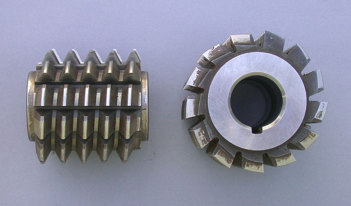 Role of gear hob cutters